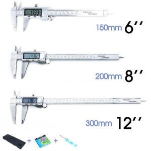 Vernier Caliper Electronic LCD Digital Gauge Stainless 150/200/300mm ozstock