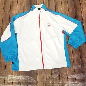 Nike Air Jordan Dri-fit Jacket Mens Size XL Extra Large White Full Zip Mock Neck