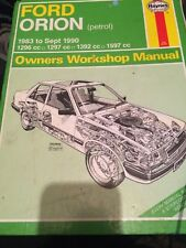 HAYNES WORKSHOP MANUAL 1009 FORD ORION 1983 to Sept 1990 PETROL .