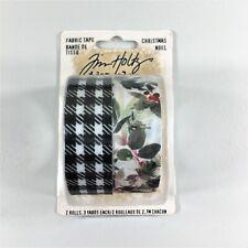 New listing Tim Holtz Idea-ology Christmas Fabric Tape Embellishment Holiday