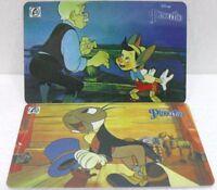 """serie di 2 schede telefoniche """"PINOCCHIO""""-carte internazionali SEPA TELEPHONIQUE"""
