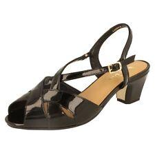 Sandals Block Formal 100% Leather Upper Heels for Women
