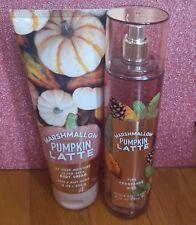 bath and body works marshmallow pumpkin latte body cream and fine fragrance mist