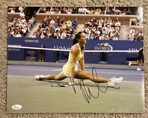 JELENA JANKOVIC Signed Auto 11x14 USTA Tennis Photo JSA L57131 Serbia