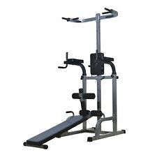 Power Tower Dip Station Ab Sit-up Bench Pull Push Up bar Workout Gym equipment