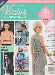 La Maison Victor Magazin UK #1 März 2018,8 Gratis Näh Muster Strick Baby Sweate