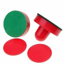 2 Air Hockey Pushers 2 table hockey pucks Handles CT R3T5 I2D3 L5S1