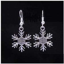 Pendant Dangle Earrings Christmas Snowflake Shamballa Charm