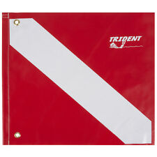 Trident Heavy Duty Poly Coated 14 x 16 Inch Diver Down Flag