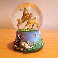 "Disney's Bambi ""Waltz Of The Flowers"" Musical Snow Globe (1547)"