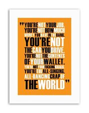 FIGHT CLUB ALL SINGING DANCING CRAP WORLD MOTIVATION Poster Quote Motivational