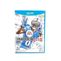 Madden NFL 13 (Nintendo Wii U, 2012) CIB Complete w/ Manual Tested & Working