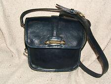 "Vintage Brighton Blue Leather  Small Shoulder Handbag, 7.5"" x 7.5"""