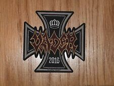 VADER - IRON TIMES (NEW) SEW ON SHAPED PATCH OFFICIAL BAND MERCH