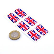 Union Jack Flag Domed Gel Stickers Car Vinyl Helmet Universal UK Decal 25mm x6