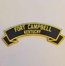 """Fort Campbell- Kentucky 4"""" rocker tab embroidered patch"""
