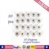 20pc - Stainless Steel 30 Degree Angled Washer Cable Railing - 1/8 & 3/16 Marine