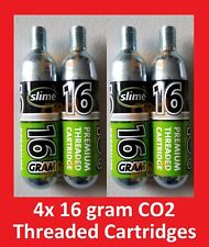 4 pack Slime CO2 16g Threaded Refill Cartridges Bike ATV Trailer 4 Inflators
