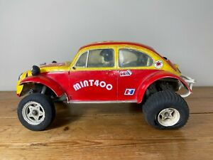 Vintage Remote Control VW Beetle Tamiya Futaba
