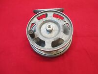Vintage Large Aluminium Fishing Reel 4 Inches Diameter with ratchet