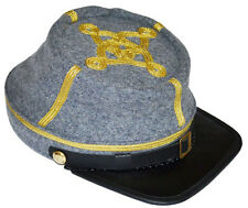 American Civil War Confederate Grey Major Or Colonels Kepi Cap Medium 56/57cms