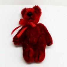 DOLLHOUSE Toy Teddy Bear Red 1.5 in. WMB World of Miniature Bears