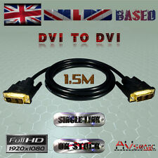 DVI-D (19Pin) to DVI-D (19Pin) CABLE/LEAD / SINGLE LINK/PC Monitor (1.5 METRES)