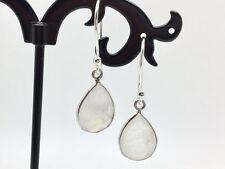 925 Sterling Silver Rainbow Moonstone Teardrop Dangle Earrings Gemstones Tear