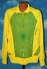 Adidas Team Brazil World Cup 2010 Official Fifa Track Jacket XL Yellow Green