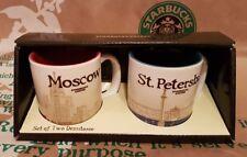 Starbucks 2er-Set demi mugs Moscow/St.Petersburg, Espresso-Tassen,NEU i.OVP-BOX!