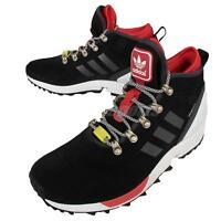 adidas Originals ZX Flux Winter Black Red Mens Running Shoes Sneakers S82931