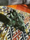 "Exquisite 4"" Chinese  Green Jade Jadeite  Feng Shui Beast pi Xiu Statue"