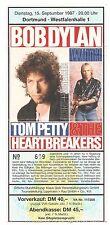 Tom Petty & Bob Dylan   In Concert 1987  Ticket / Konzertkarte / Eintrittskarte