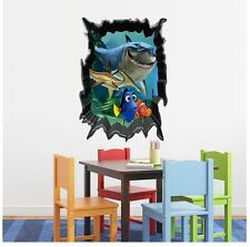 wall stickers under sea world removable decor decal kids home large PVC nusery