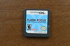 Flash Focus: Vision Training in Minutes a Day (Nintendo DS, 2007) Cart Only