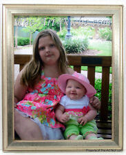 11x14 Silver Leaf Solid Wood Picture Photo Frame 11 x 14 Wall Hanging New