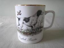 English Pointer Dog Coffee Mug Cup Porcelain Gold Trim