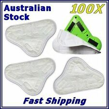 100x BULK LOT  New H20 H2O StickOn X5 Washable Steam Cleaning Mop Pad Microfiber
