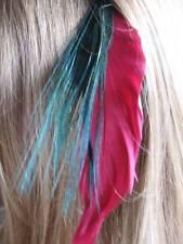 Extensions cheveux en plumes-red Goose, vert Biot et plume paon yeux mix