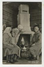 AK Inari, Lapin takka, Lapsk spis, 1950 Foto-AK