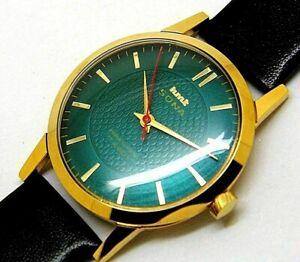 hmt sona hand winding men's slim para shock 17 jewels vintage india watch