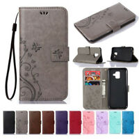 For Samsung Galaxy A3 A6 A7 A8 A9 2018 Leather Magnetic Flip Wallet Case Cover