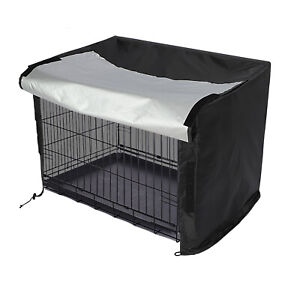 Dog Pet Cage Crate Cover M sizes Waterproof Heavy Duty Black UK