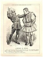 WWI Constantine I of Greece Forced Exile Political Cartoon Punch Magazine `6P