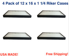 4 Pack of 12 x 16 x 1 1/4 Riker Display Cases Boxes for Collectibles Arrowheads
