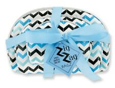Gift Idea 3pc Women Makeup Chevron Beauty Case Zipper Bag Tote Set Random Color