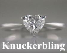 Heart Engagement Solitaire White Gold Fine Diamond Rings