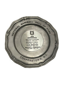 1983 Hall of Fame Limited Ed Pewter Plate - Alston, Kell, Marichal and Robinson