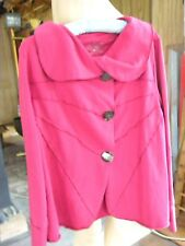"""NEON BUDDAH  ROSE JACKET WITH WONDERFUL """"BLING"""" BUTTONS!  SIZE XL SRP  $188.00"""