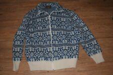 Unisex? Sz L zip front sweater virgin wool tundra brand